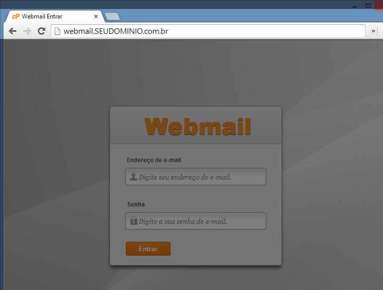 Acessar WebMail - Passo 1