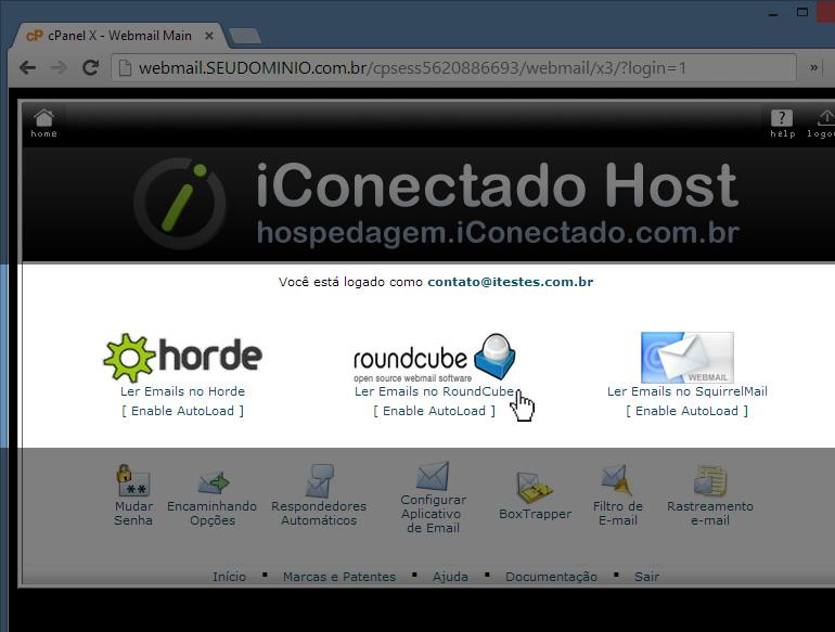 Acessar WebMail - Passo 3