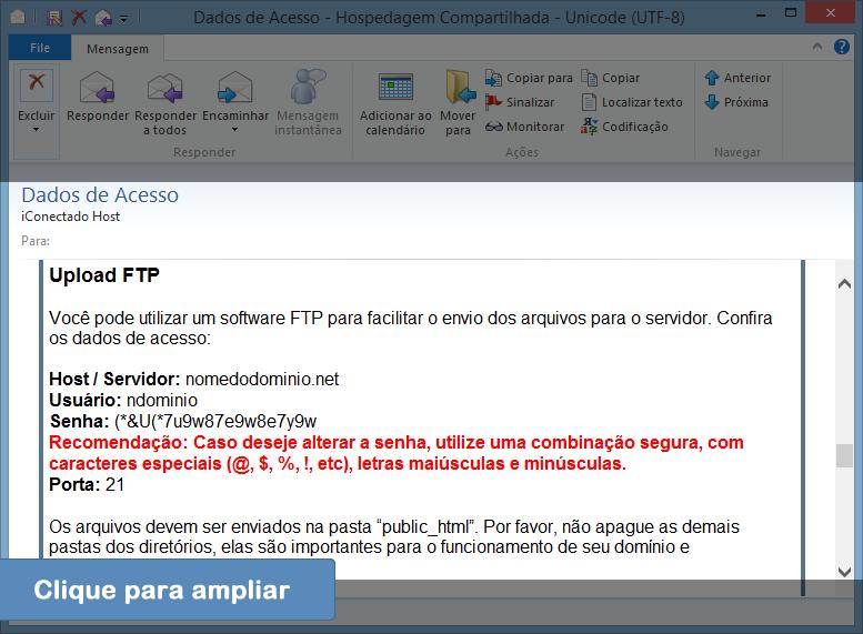 Como Acessar o FTP - Passo 1