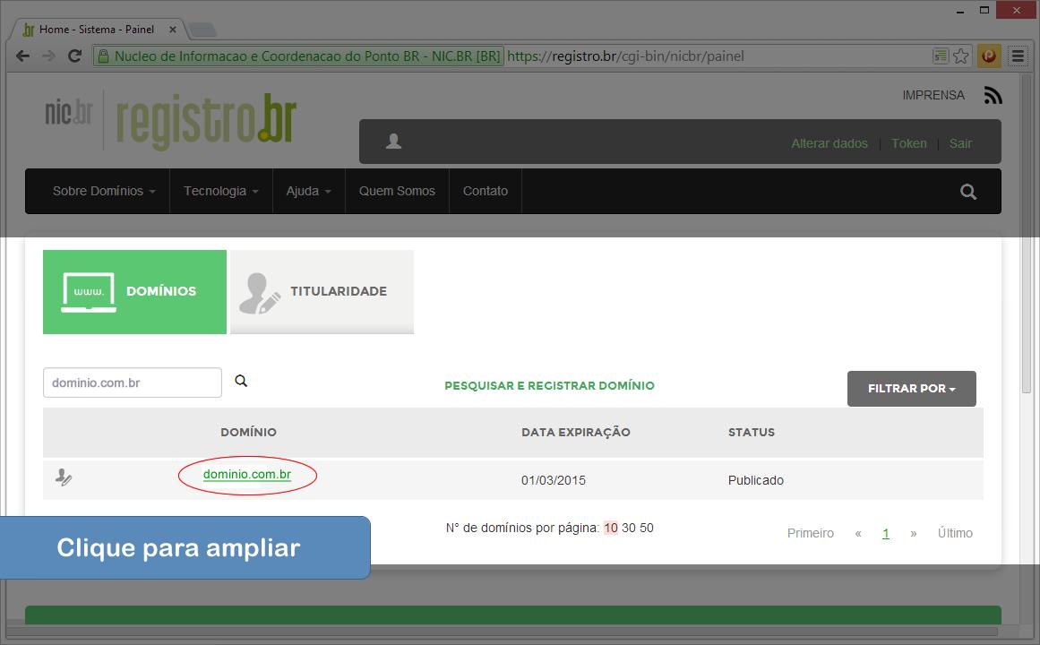 Alterar DNS no Registro.br - Passo 3