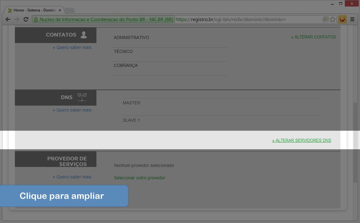 Alterar DNS no Registro.br - Passo 4