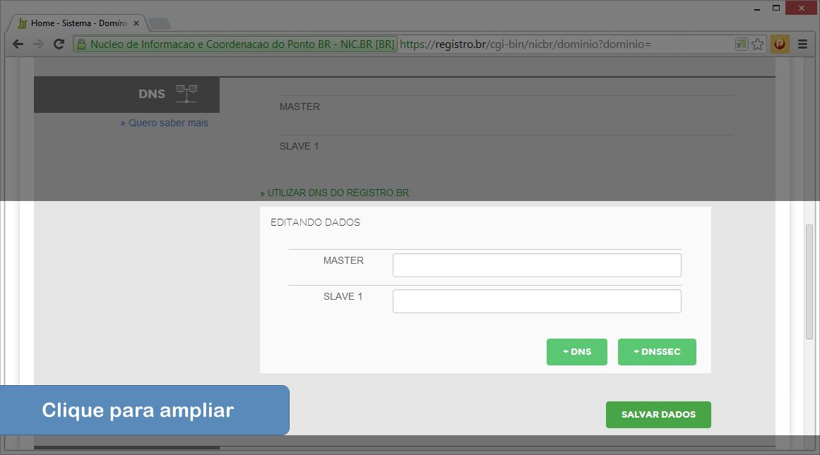Alterar DNS no Registro.br - Passo 5