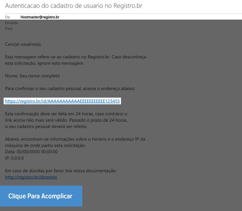 Criar ID no REGISTRO.BR - Passo 3